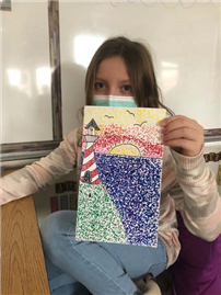 Lighthouse Art Created in Pointillism Style4 thumbnail182176